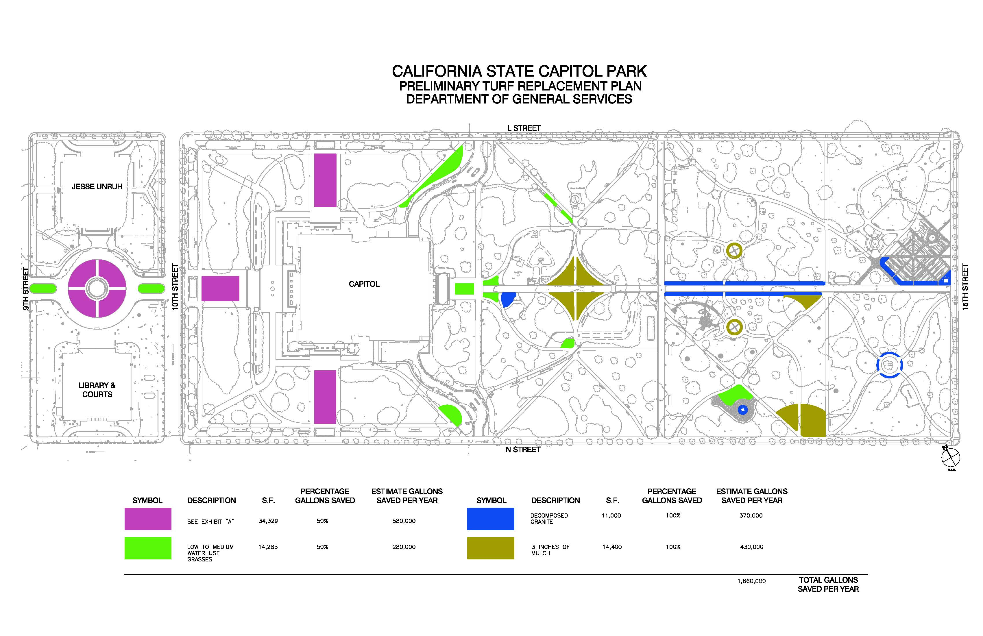 Changes Ing To Capitol Park Amid Ongoing Drought Dgs Newswire: California State Capitol Map At Codeve.org