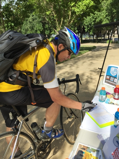 bicyclistsigning