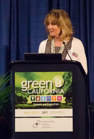 Government Operations Agency Secretary Marybel Batjer speaks during the keynote session to kick off the summit.
